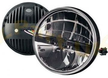 "7"" ROUND LED HEADLAMP 12/24V PAIR"